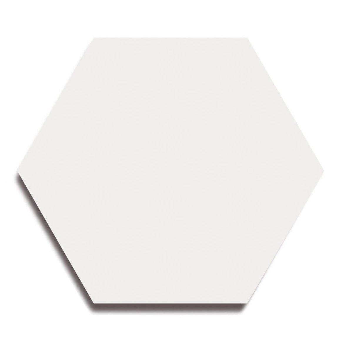 Cement Hex, White