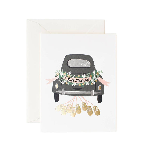 Just Married Getaway Greeting Card