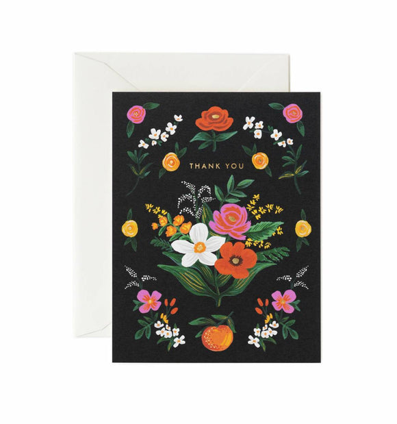 Orangerie Thank You Greeting Card