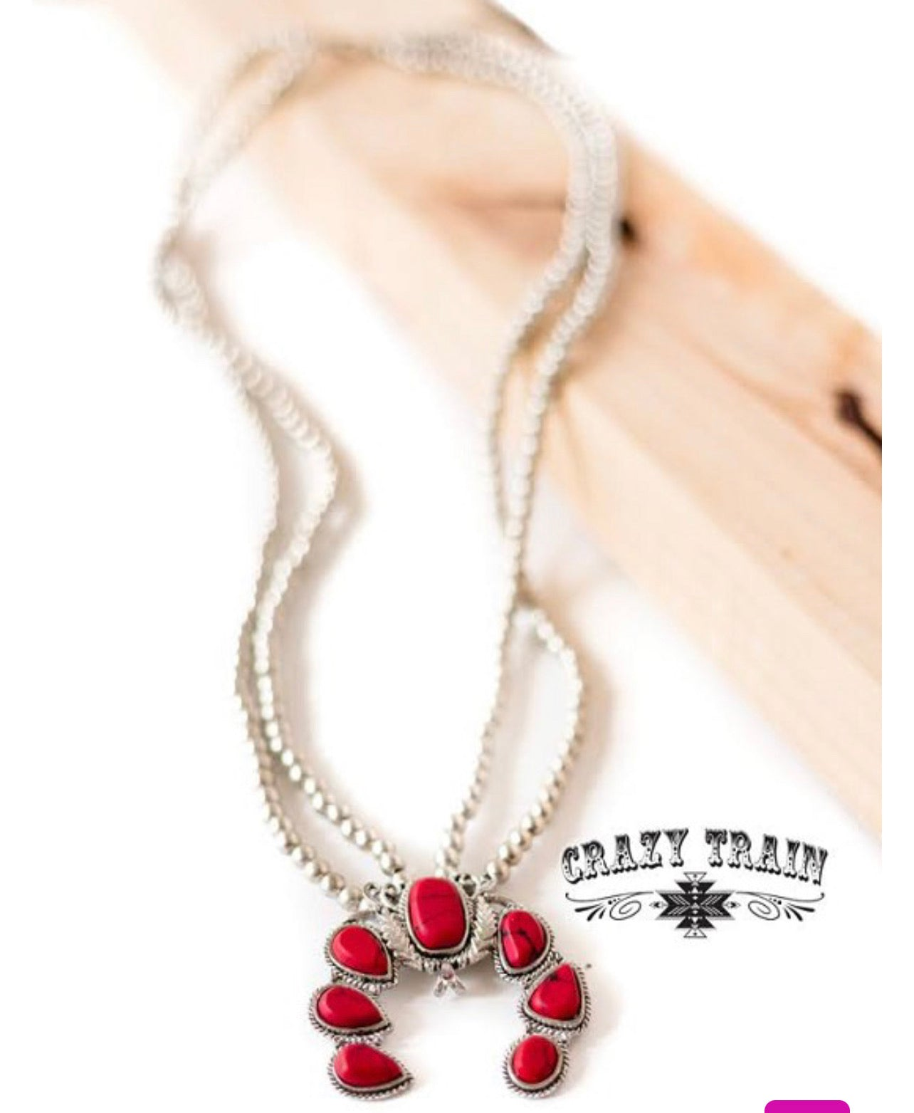 Double Take Necklace - Red