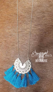 Simply Southern Navy Dream Catcher Necklace