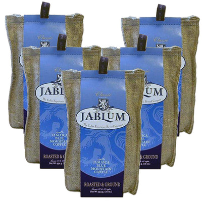 Jablum 100% Jamaica Blue Mountain Coffee (5 pack - 16 oz each - Ground)