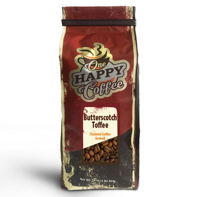 One Happy Flavored Coffee – Butterscotch Toffee