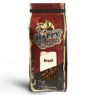 One Happy Coffee – Brazil (16 oz - Whole Bean)