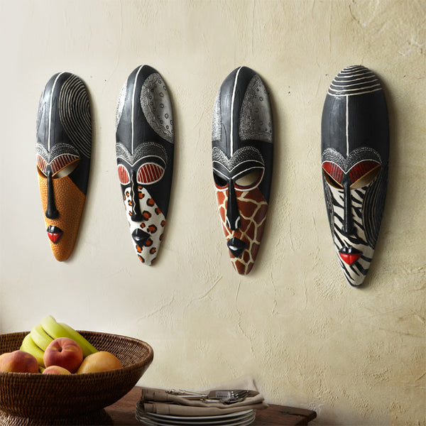 Hot Retro Resin Exotic African Masks Portraits Murale Ornements Décoration Accessoires, Meilleur