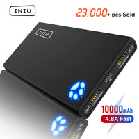 10000mAh 4.8A Power Bank Double 2 USB Chargeur Portable Powerbank Universelle