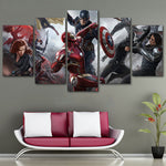 Toile Moderne 5 Pièces The Avengers Art Print Poster Cadres Peintures Modulaires HD