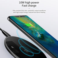 Chargeur sans fil Rapide 10W Qi Huawei Mate 20 P30 Pro iPhone Xs Max X 8 Samsung S10