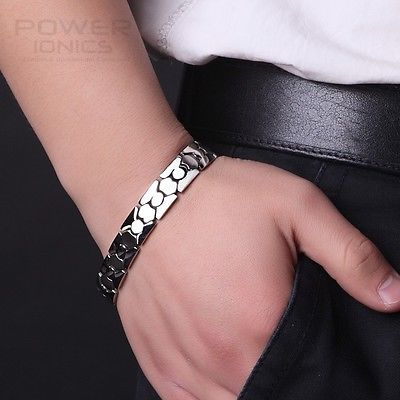 Power Ionics Titanium Power Healing Bracelet magnétique Energy Body w / Box