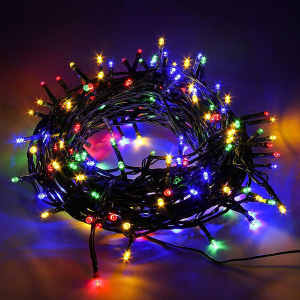 Guirlande Multicolore AC220V Câble Vert 10 M 100 LED String Fairy Light Vacances Noel