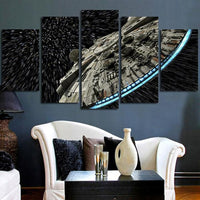 Moderne Art Mural Photos HD Décor Affiches 5 Panneau Star Wars Millennium Faucon