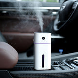 Mini humidificateur d'air ultrason portable USB désodorisant voiture LED Night Light 180ml