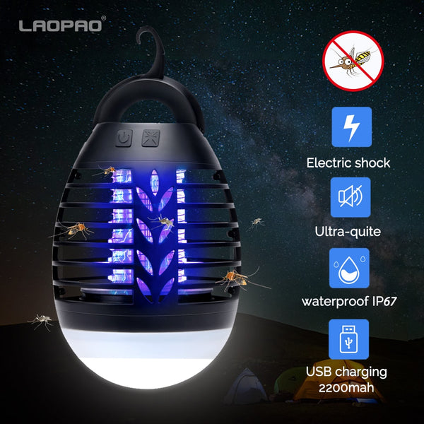 Anti Moustique Camping Tueur Lampe 5W Charge USB 2200MAH Maison Plein Air Piège
