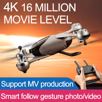 Pro Cam Drone 16MP / 5.0MP Dual Cam 4K HD Video RC Gimbal WIFI FPV 4copter Alt Hold