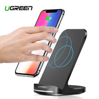 Ugreen Qi Support chargeur sans fil pour iPhone X XS 8 XR Samsung S9 S10 S8 S10E Station