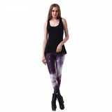 Leggings Fashion Motif Style Galaxy Space Grande Élasticité Transpiration Séchage Rapide