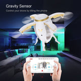 Drone oeuf volant pliable d'Attop W5 2.4GHz pliable RC Selfie WIFI FPV Maintien Atltitude