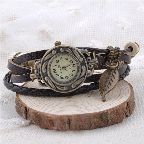 Feuille Vintage Wrap Watch