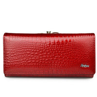 Portefeuilles Femmes Fashion Motif Alligator Long Hasp Zipper Pochette Sac De Luxe