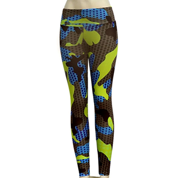 Push Up Leggings Nouveau Casual Sexy Imprimé Camouflage Polyester Slim Respirant Fitness