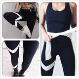 Leggins De Fitness Running Musculation  À Rayures Pour Femmes  Slim Hip Push Up