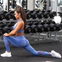 Leggings pour femmes Gym Fitness Vêtements Sporty 2 Piece Set Leggings Sexy