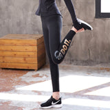 Leggings Femmes Casual Coton Rayé Fitness Taille Haute