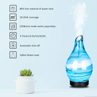 Humidificateur d'air 100ml Ultrasons Diffuseur Arome,7 couleurs + 4 temps brumisation