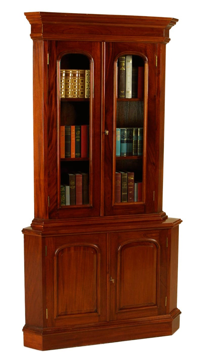 2 Door Victorian Corner Bookcase
