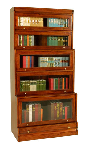2'9 5 Door Stacking Bookcase