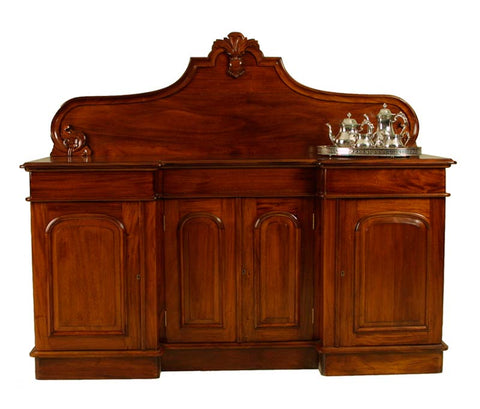 4 Door Recess Sideboard Carved Back