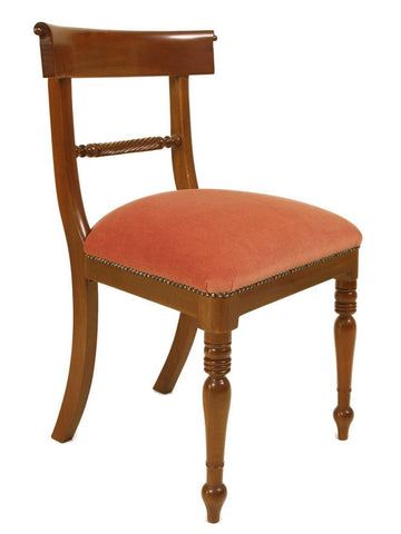 Regency Carved Bar Back Dining Chair