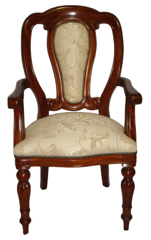 Admiralty Upholstered Back Carver - High Back