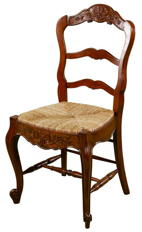 French Dining Chair with Rustic Seat