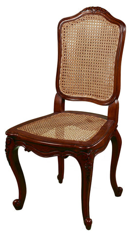 French Rattan Dining Chair Rustic Seat