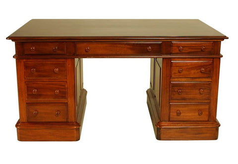 4'0 x 2'6 Victorian Desk Solid Mahogany Top