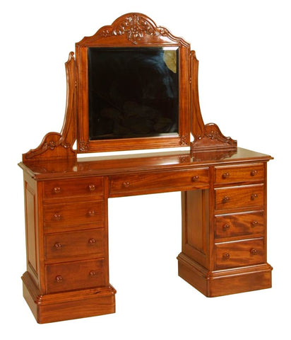 Double Pedestal Victorian Dressing Table