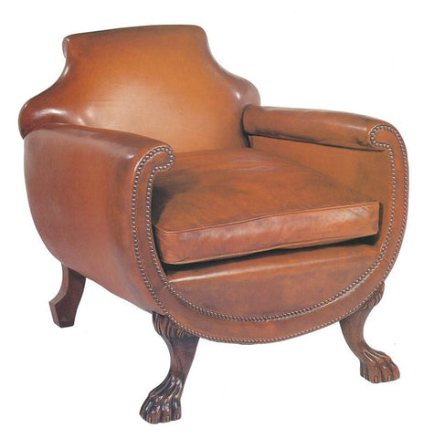 Lions Foot Barrel Armchair