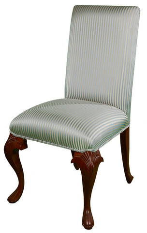 Queen Anne Plain High Back Upholstered Side chair