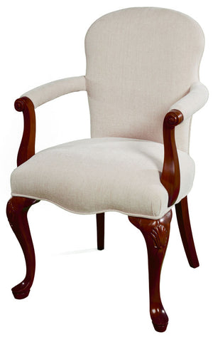 French Scroll Arm Occasional Chair