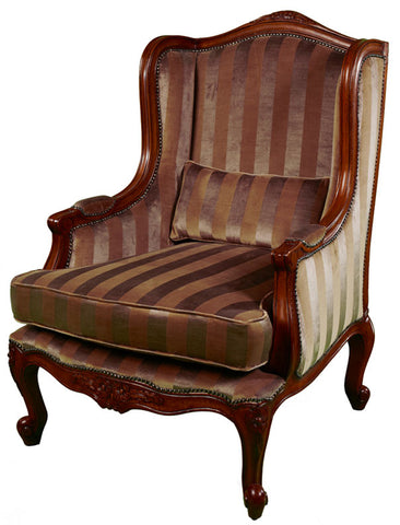 Louis Walnut Wing Chair