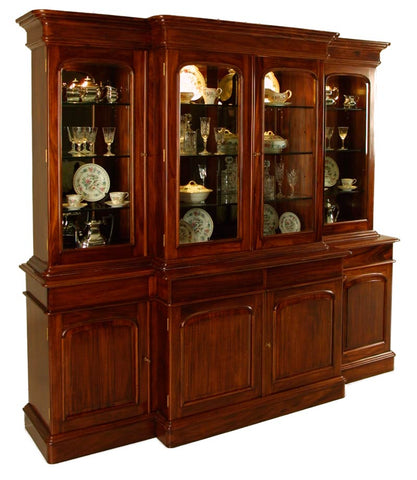 7'10 4 Door Breakfront Display Cabinet MLGS