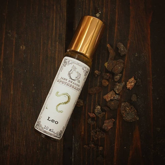 Our Leo roll-on blend is made with Myrrh ~ a warm & sultry aroma that is known for its highly spiritual properties. It comes from a dark resin and has woodsy, smoky notes to ground you to the present moment, while encouraging you to truly feel yourself. Like fiery Leo, Myrrh is also ruled by the Sun.