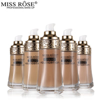 30ml Miss Rose Liquid Foundation Face Base Makeup fond de teint Make Up Foundation for All Skin Type Concealer Oil-control