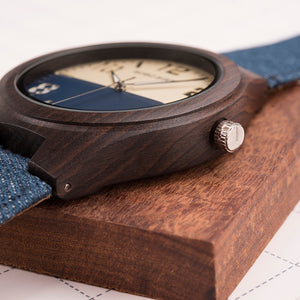 Womens Wooden Watch - Fashion Denim