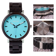 Load image into Gallery viewer, Men & Women Wooden Watch - Luxury Dark Wood