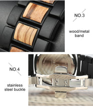 Load image into Gallery viewer, Mens Wooden Watch -  Chronograph Military Ebony