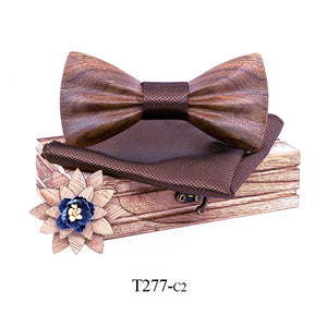 Mens Wooden Bow Tie - Congealed Luxury