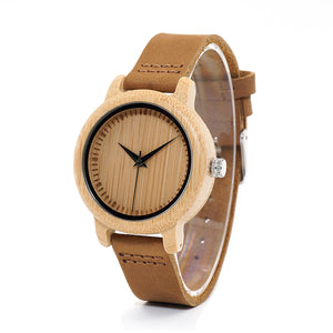 Wooden Watch - Fine Bamboo Lovers Watch
