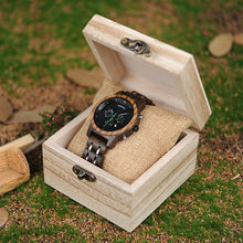 Load image into Gallery viewer, Womens Wooden Watch - Chronograph Darken Walnut
